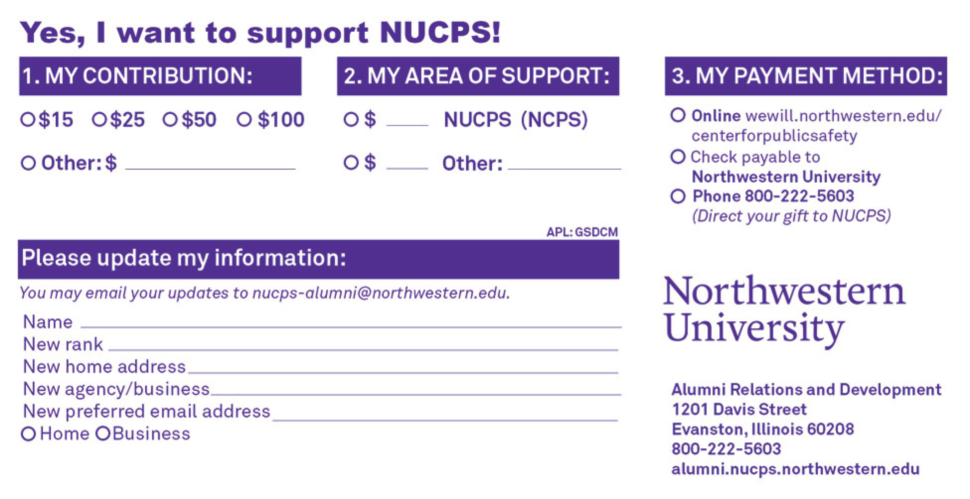 Downloadable Donation Card