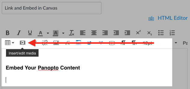 Canvas Rich Content Editor, cursor location and Insert/edit media button